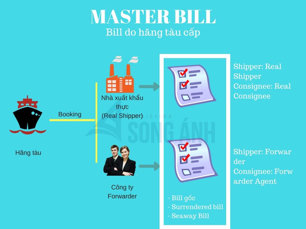 Master Bill hãng tàu cấp cho Shipper và Forwarder