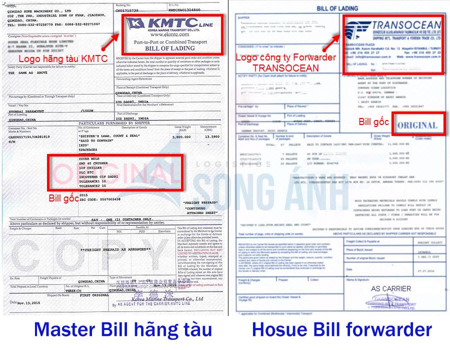 Mẫu Master Bill (MBL) và House Bill(HBL)