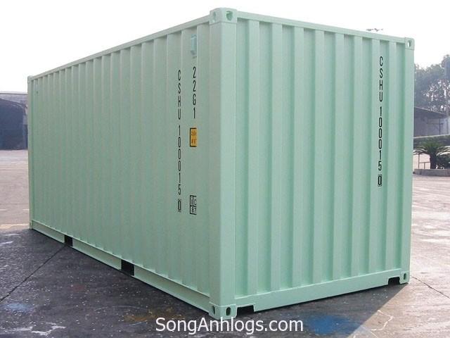 Trọng lượng và thể tích container 20 feet