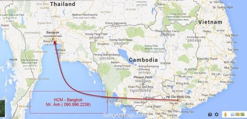 Cước vận tải hàng lẻ container đi Bangkok