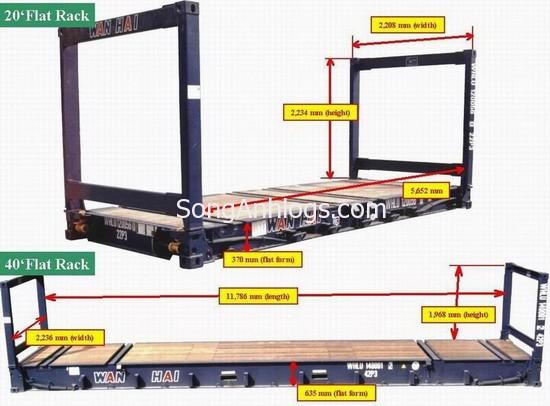 Container flat rack 20 và 40 feet