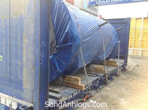 Hàng bồn đóng container flat rack