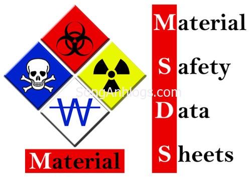 MSDS bảng chỉ dẫn an toàn hàng hóa hóa chất