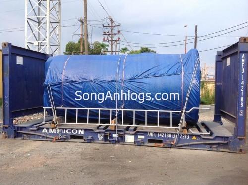 Bồn nước steel tanks đóng container flat rack 20'