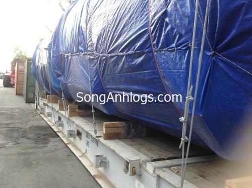 Bọc hàng steel flack để chống mưa nắng trong khi vận chuyển