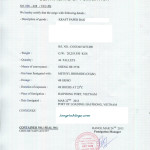 Giấy xác nhận hun trùng Certificate of Fumigation
