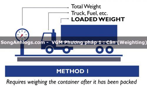 Phương pháp cân (Weighting) tính VGM