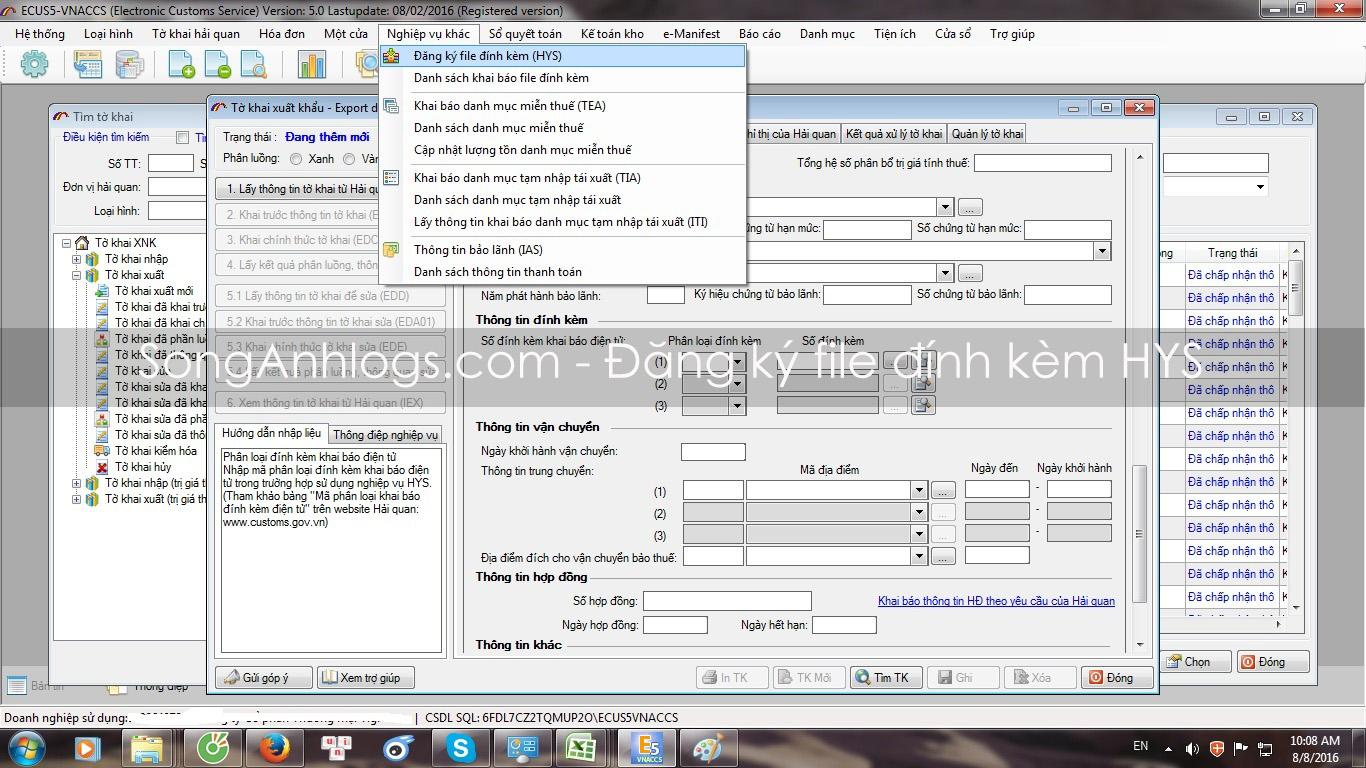 Đăng ký file đính kèm HYS