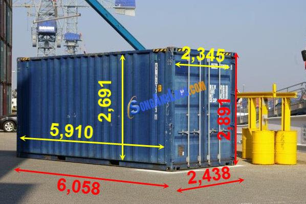 Kích Thước Container 20 feet Cao